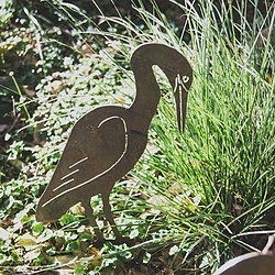 Egret Bird Art Sculpture Metal Work Broadcroft Design