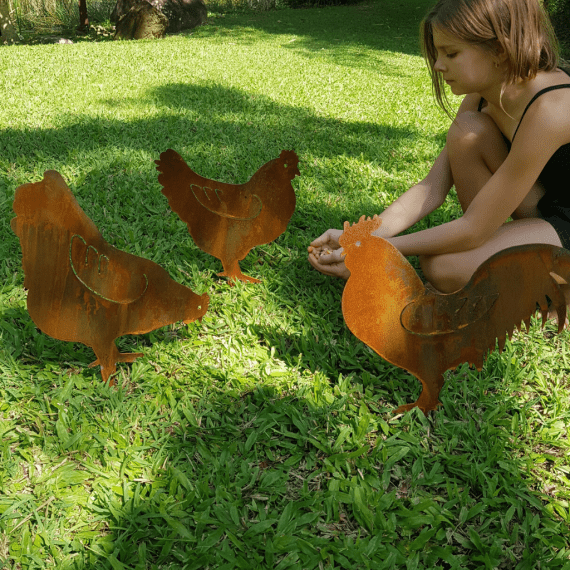 Chook Chicken Bird Cluck Metal Work Broadcroft Design