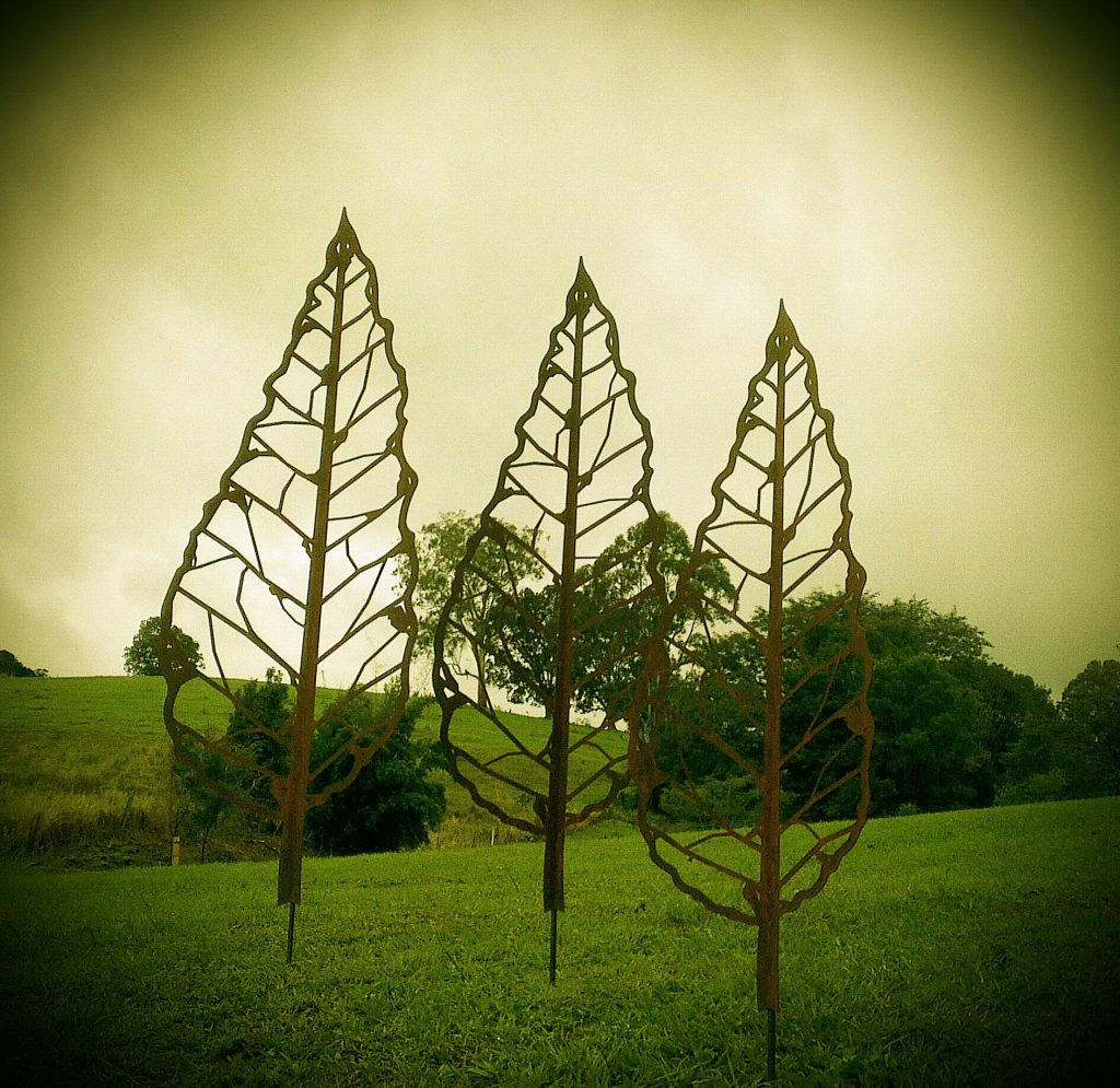 Winter Leaf Spike Metal Work Broadcroft Design
