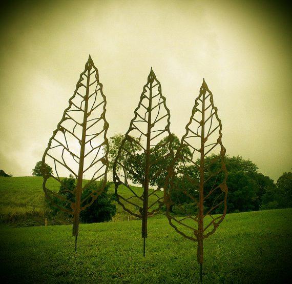 Winter Leaf Spike Metal Work Broadcroft Design
