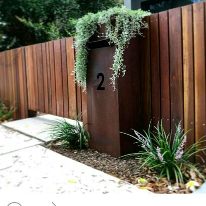 Entrance Front Gate Mailbox Metal Work Broadcroft Design