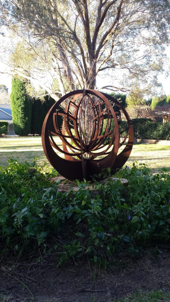 Lotus Blade Ball Sacred Geometry Pattern Metal Work Broadcroft Design