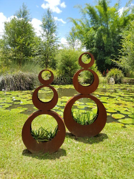 Circle Planters Art Piece Metal Work Broadcroft Design