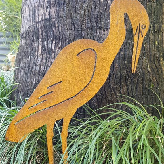 Egret Metal Work Bird Art Broadcroft Design