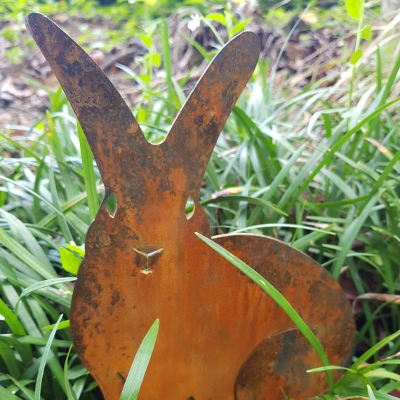 Animal Cute Bunny Rabbit Art Metal Work Broadcroft Design
