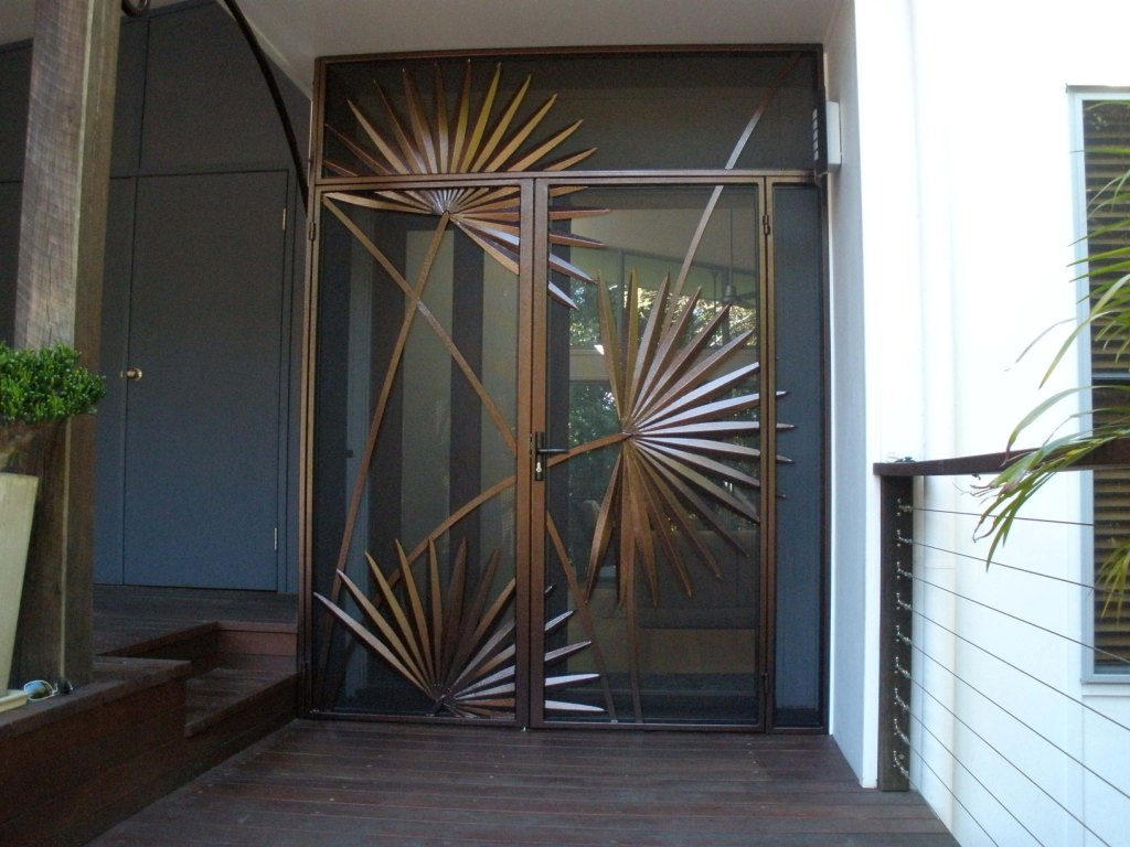 Palm Door Entrance Metal Work Broadcroft Design
