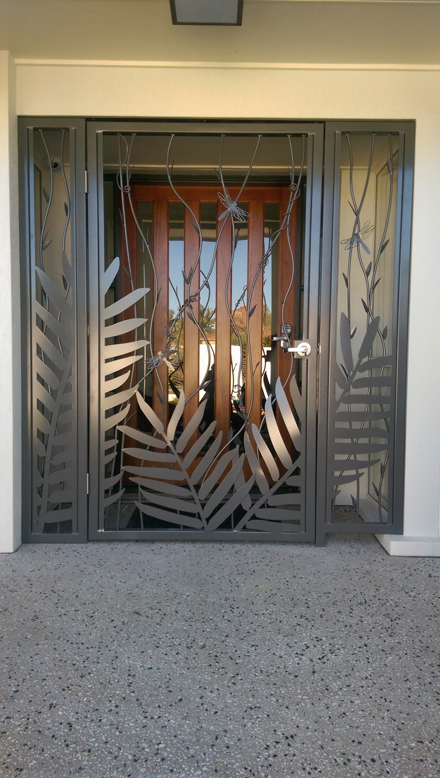 Steel Door Art Feature Metal Work Broadcroft Design