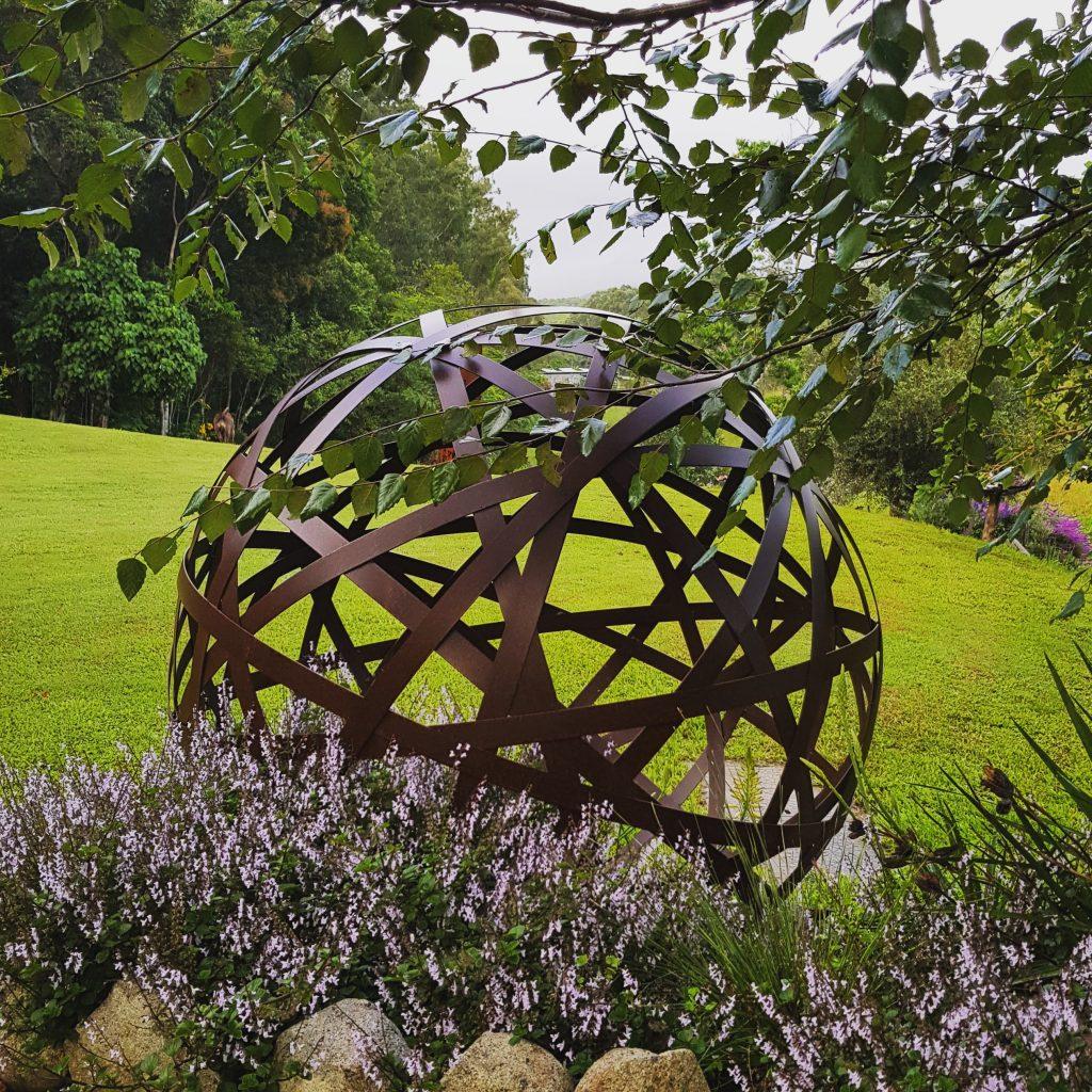 Metal Work Broadcroft Design Strap Sphere Ball Circle Art Feature