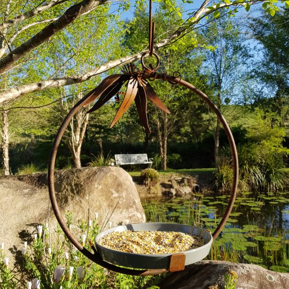 Bird Feeder Circle Metal Work Broadcroft Design