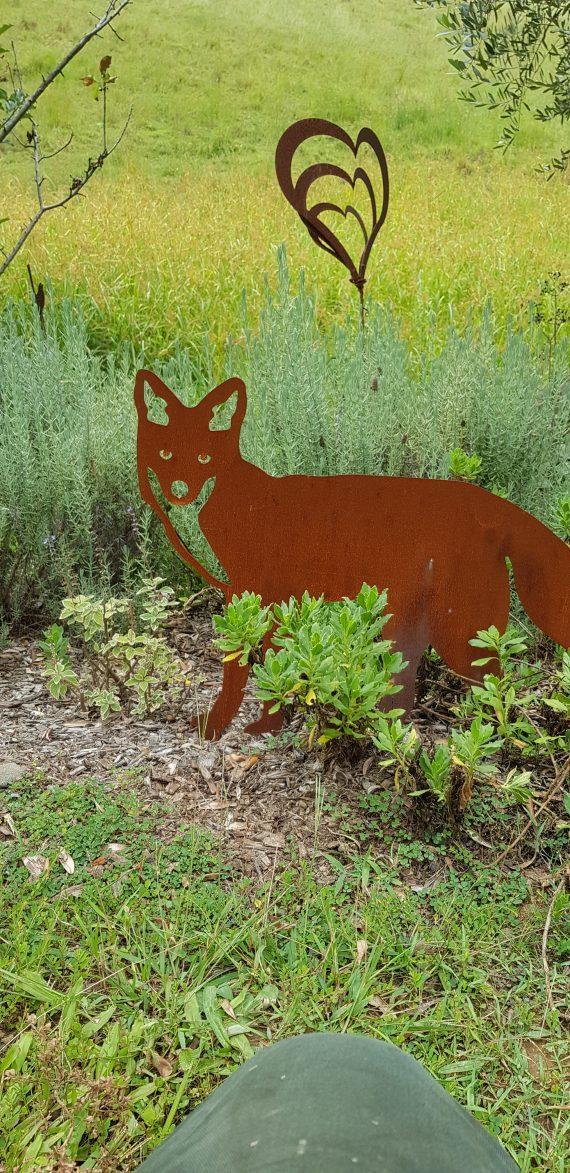 Mr Fox Metal garden art work Broadcroft Design