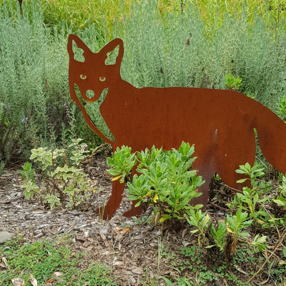 Mr Fox Metal garden art work Broadcroft Design